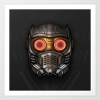 Icon Series 3: (Masks 1/3) Peter Quill AKA Star-Lord's Mask. Art Print