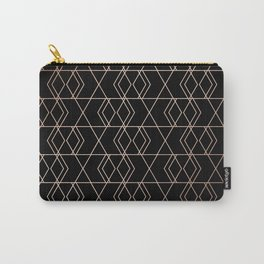 Geo Pattern - Black & Gold Carry-All Pouch