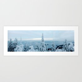 Snow at Koli Art Print
