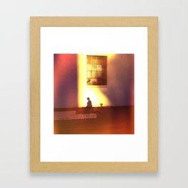 the landing of dusk Framed Art Print