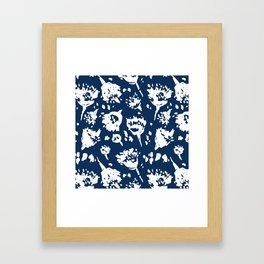 Seed Pod Indigo Framed Art Print