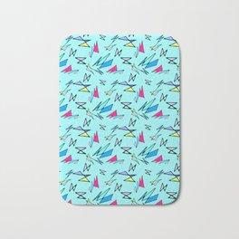 Wacky 80s//BLUE//Geo Pattern #3 Bath Mat