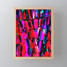 Dark Red Sugarcane Framed Mini Art Print