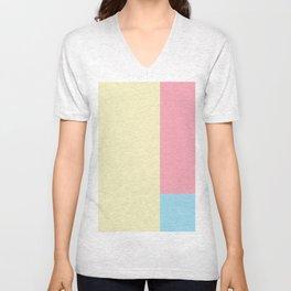Color Block - 1 Unisex V-Neck