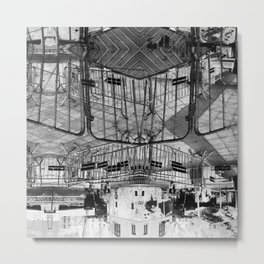 Summer space, smelting selves, simmer shimmers. 28, grayscale version Metal Print
