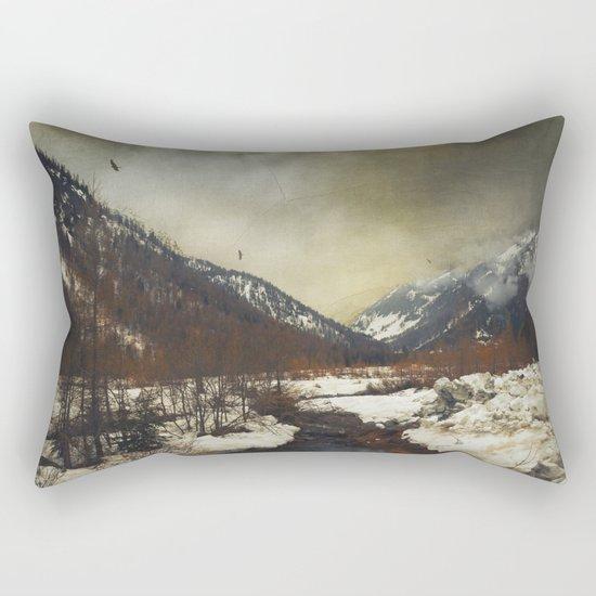 Wild Winter Valley Rectangular Pillow