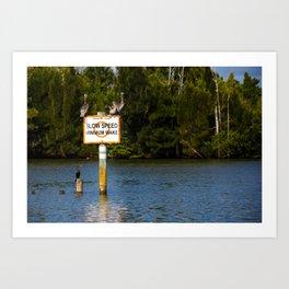 Manatee Zone Art Print