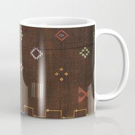Brown Bohemian Traditional Moroccan Vintage Artwork (N25) Coffee Mug