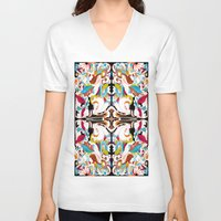 shell V-neck T-shirts featuring Shell by András Récze