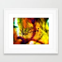 marijuana Framed Art Prints featuring Marijuana  by SilverFoxRun