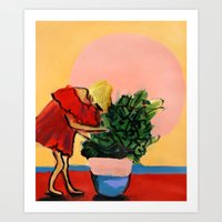 I Have This Thing With Plants Art Print