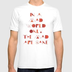 In a Mad World Mens Fitted Tee White MEDIUM