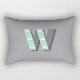 The Letter W Rectangular Pillow