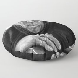 Eric Clapton PENCIL DRAWING Floor Pillow