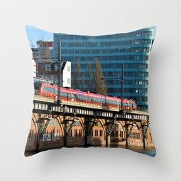 RED TRAIN - BERLIN Throw Pillow