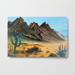 Deserted Desert Metal Print