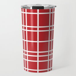 Red/White Plaid Travel Mug