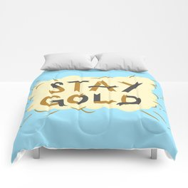 Stay Gold Print Comforters