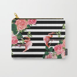 tropical flamingo Carry-All Pouch