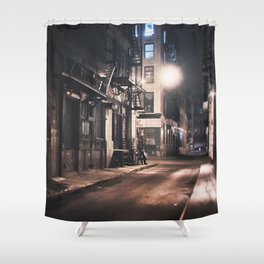 New York City - Small Hours After Midnight Shower Curtain