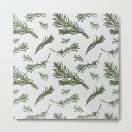Rosemary rustic pattern Metal Print