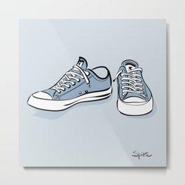 Grey Sneakers Metal Print