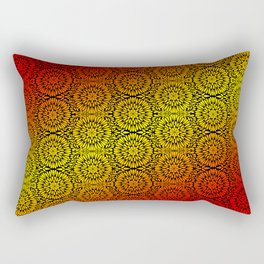 Fire Petals Mandala Rectangular Pillow
