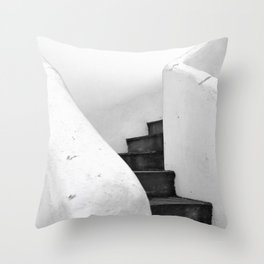 Black and White Stairs Throw Pillow