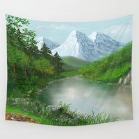 river Wall Tapestries featuring River by Turul