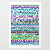 Sea Shore Stripe Art Print