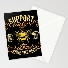 Beekeeping product  Support Your Local Honey Bee Stationery Cards