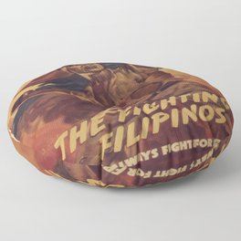 Vintage poster - The Fighting Filipinos Floor Pillow