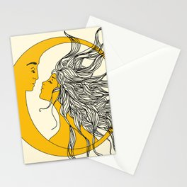 Sun and Moon Stationery Cards