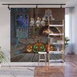 Haunted by Pumpkins Wall Mural