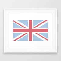 union jack Framed Art Prints featuring Union Jack by Alesia D
