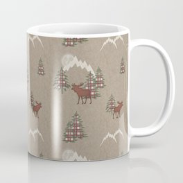 Moose and Mountains Pattern Coffee Mug