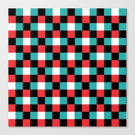 Pixeled Squares Canvas Print