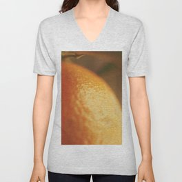 Orange peel, macro photography, fine art print, texture, for bar, home decor or interior desig Unisex V-Neck
