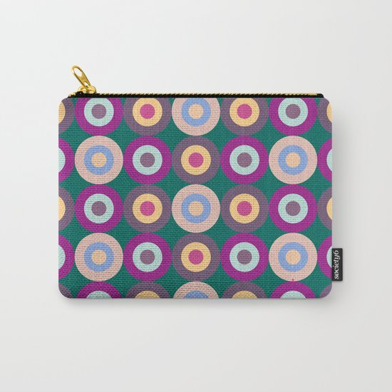 Seamless Colorful Circle Pattern Carry-All Pouch