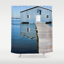 The Blue Boat House Shower Curtain