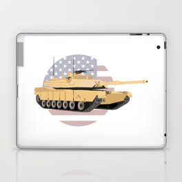 M1A1 Abrams Tank with American Flag Laptop & iPad Skin