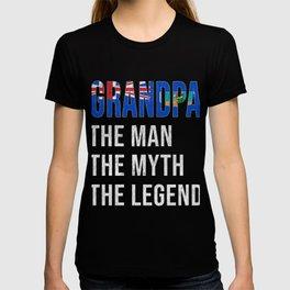 Montserrat Grandpa Legend Fathers Day T-shirt