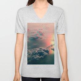 glitched clouds Unisex V-Neck