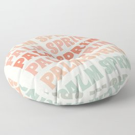 Palm Springs typography trendy retro vintage style 70s minimal art socal cali vibes Floor Pillow