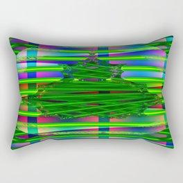 Fraktal and stripes Rectangular Pillow