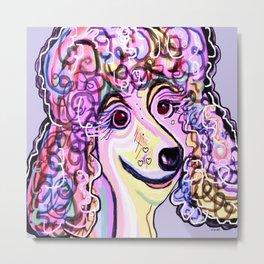 Lavender Poodle Metal Print