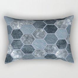 Abstract Jeans Rectangular Pillow