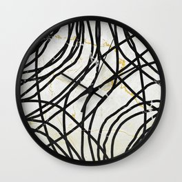 Abstract Mess - minimal, marbled, simple, modern design Wall Clock