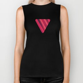 Moder Red / Black Stripe  Abstract Stream Lines Textuer Design Biker Tank