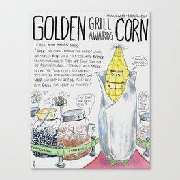 Golden Grill Awards Corn Canvas Print